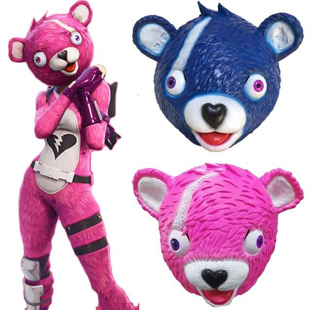 2018 game cuddle team leader cosplay mask pink bear panda animal