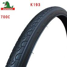 Велосипедная шина KENDA K193 700c, детали для горного велосипеда, шина для дорожного велосипеда, 700*25 28 32 35 38 40C, велосипедная шина с маленьким рисунк...