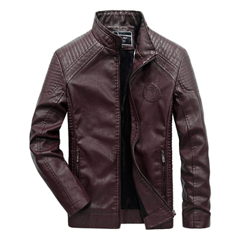 New Winter Men Leather Jackets Men Motorcycle Keep Warm Leather jackets 2019 Fashion Brand Men's Fleece Leather Jacket Coat