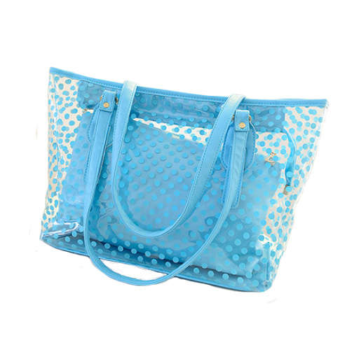 2017 Women Handbags Summer Wave Point Candy Shoulder Bag Waterproof Casual Totes Bolas Female Transparent Bags Shopping Handbags
