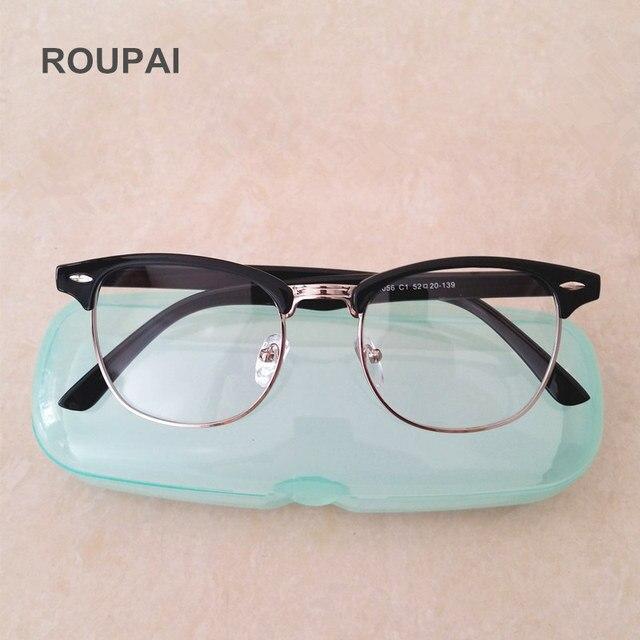 4fffb45f253da1 ROUPAI Clear Mode Brilmontuur Unisex Semi-randloze Bril Nep Brillen voor Vrouwen  Mannen Oculos De