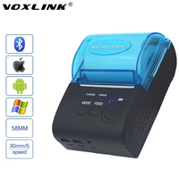 VOXLINK RS232 USB Ports 58mm Mini Wireless Bluetooth Thermal Receipt Printer Support ESC P0S STAR For