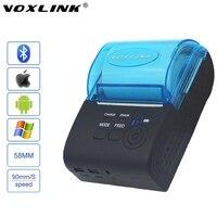Voxlink rs232/usb-poorten 58mm mini draadloze bluetooth thermische printer ondersteuning esc/p0s voor ios/android mobiele printer