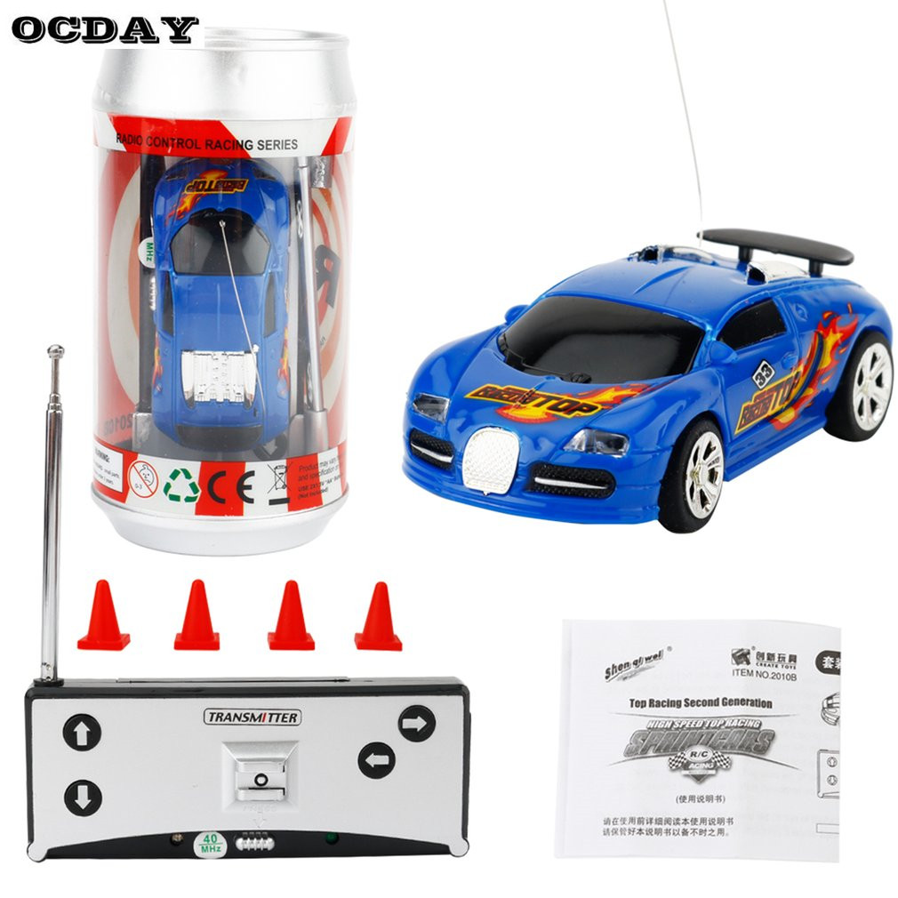 Kinderfahrzeuge Coke Can Mini Speed RC Radio Remote Control Micro Racing Car Toy Gift New CW
