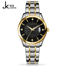 JIEKE Hot Sale Brands Quartz Women Watches Solid Stainless Steel Ladies Watch Waterproof Calendar Women Clock Dames Horloge