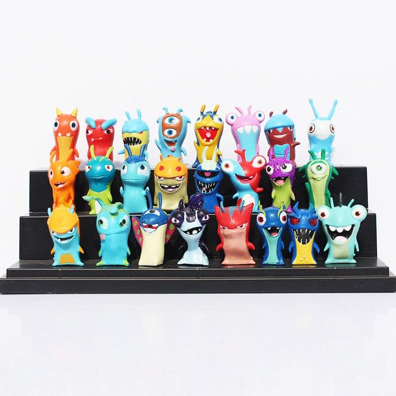 24 pcsensemble mignon de bande dessine slugterra action pvc figure jouets juguetes livraison gratuite
