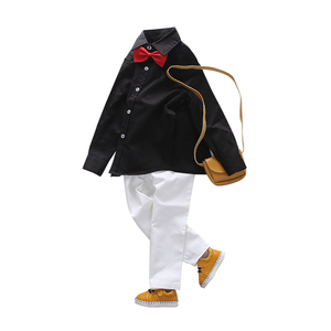 Image 2 - Áo Sơ Mi bé trai 2018 Trẻ Em Hàng Đầu của Quần Áo Unisex Áo 100% Cotton Chắc Chắn Trẻ Em Tay Dài Hình Học Bé Trai Bé Gái Áo Sơ Mi 100 160cm