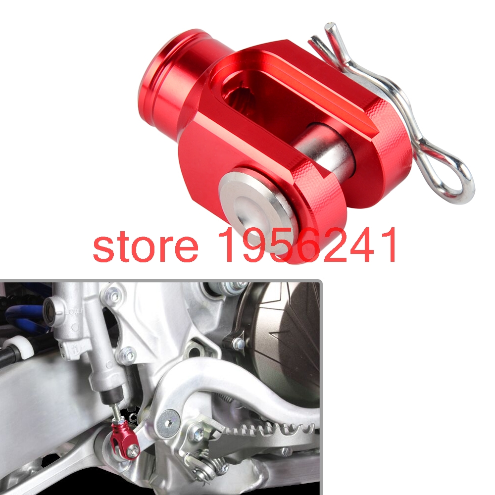 CNC Billet Rear Foot Brake Clevis For Honda CR80R CR85R XR50 XR100 XR230 XR250 XR400 Motard XR650R billet rear hub carriers for losi 5ive t