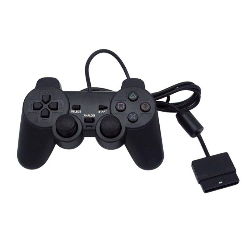 Noir Filaire Contrôleur 1.8 M Double Choc À Distance joystick Gamepad Joypad pour PlayStation 2 PS2 K5