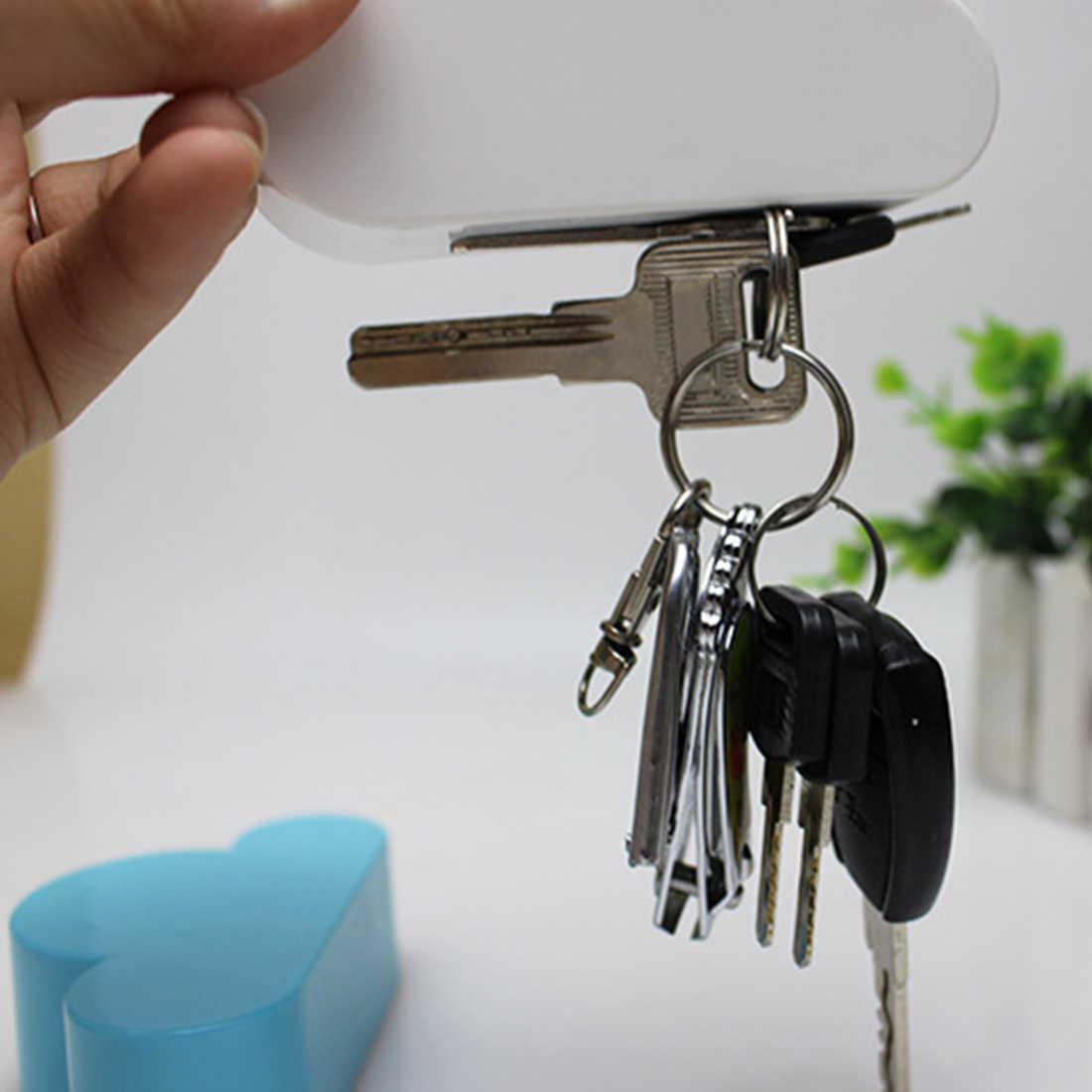 1 قطعة الأبيض سحابة شكل مفتاح حامل الإبداعية حامل تخزين المنزل شماعات المغناطيسي المغناطيس المفاتيح حامل جدار ديكور هدية