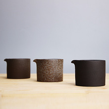 100ml Coarse Pottery Ceramic Fair Cup Portable Japanese Retro Divided Tea Sea Kung Fu Tea Set Pitcher Pu'er Cup Sent Friends