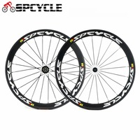 Spcycle 700C Carbon Road Bike Wheels 50mm Clincher Racing Bicycle Carbon Wheelset 3k Glossy 23mm width Road Bicycle Wheelsets