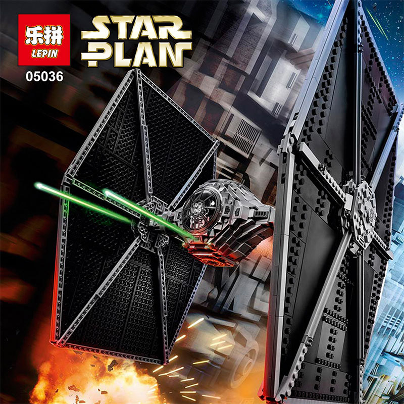NEW 1685pcs Lepin 05036 Star War Series Tie Fighter Building Educational Blocks Bricks Toys Compatible with legeod 75095 dhl lepin 05055 star series military war the rogue one usc vader tie advanced fighter compatible 10175 building bricks block toy