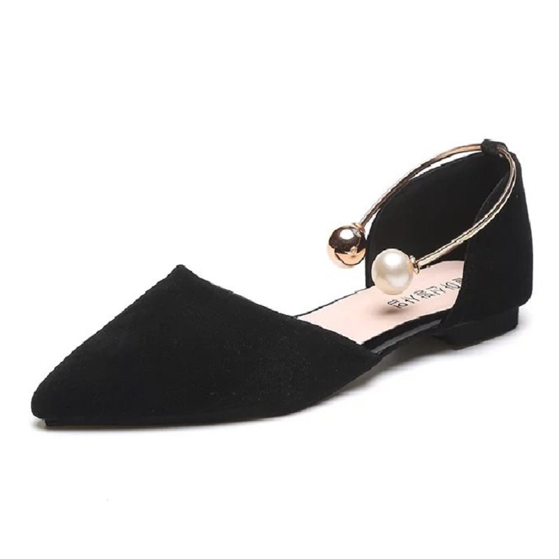 Moxxy Spring Autumn Women Loafers Square Toe Slip on Shoes Buckle Woman Flats Bead Metal Casual Shoes Black Loafer zapatos mujer 2017 summer new fashion sexy lace ladies flats shoes womens pointed toe shallow flats shoes black slip on casual loafers t033109