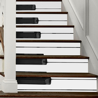 6pcs/lot 3D Stair Stickers Piano Key Waterproof Self Adhesive Tiles Art Decal for Floor Stickers Music Classroom Home Decoration