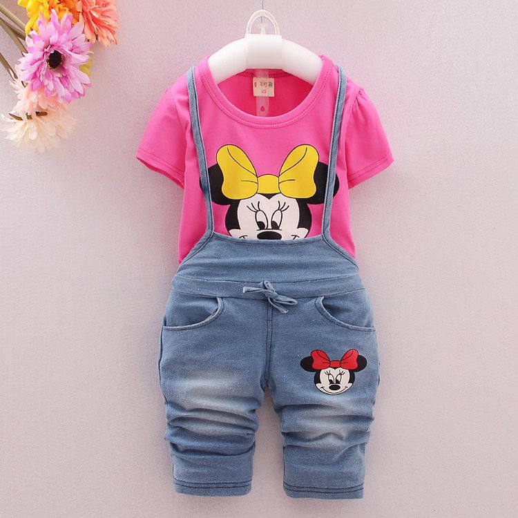 2016 summer new baby clothing set 100% cotton short sleeved strap baby sets cowboy Mitch Mini overall suit for boys A420