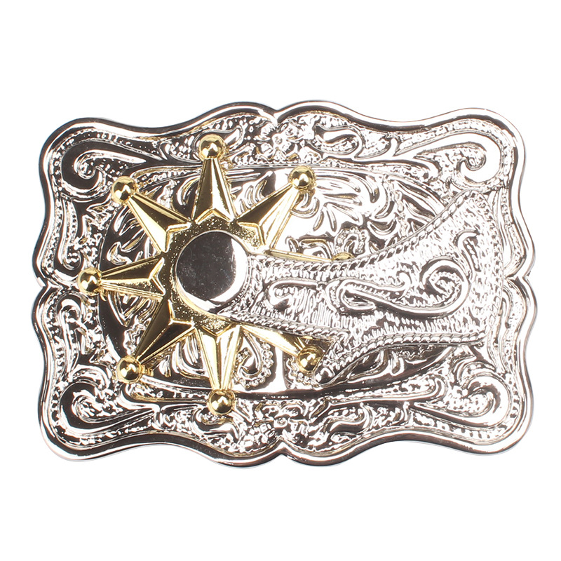With Rotational Alloy Belt Buckle