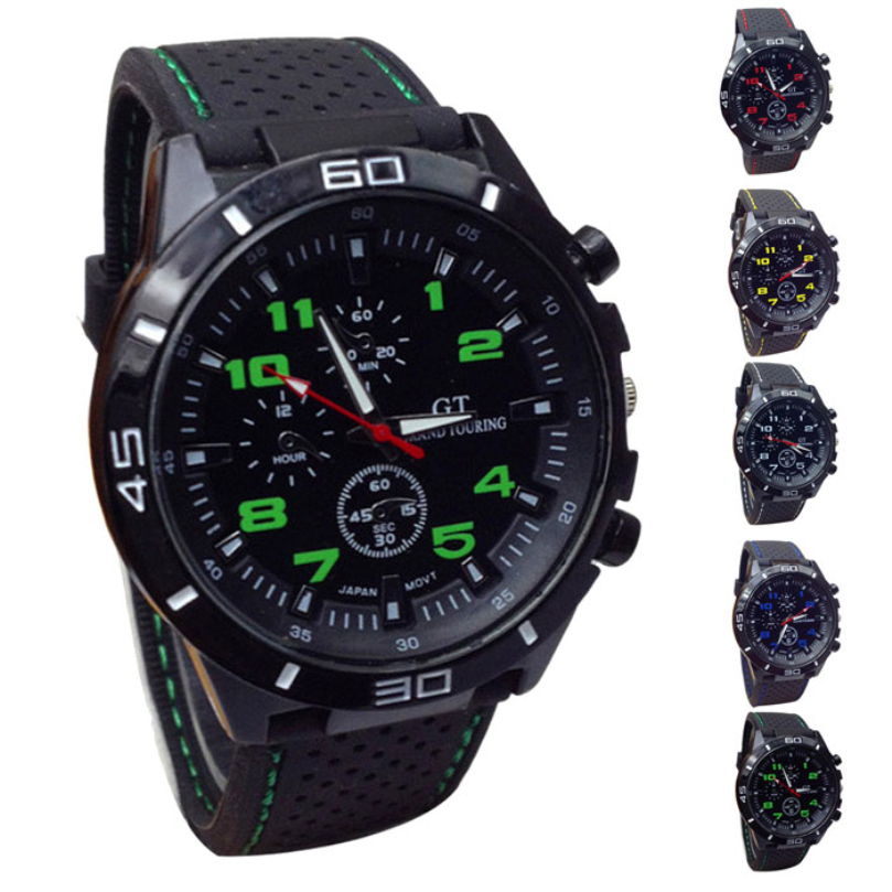 Quartz-Watch Essential Sport Waterproof Men Fashion Silicone Relogio Masculino