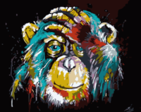 Unframed Color Monkey Animals DIY Painting By Numbers Picture Wall Art Canvas Painting Home Decor Unique