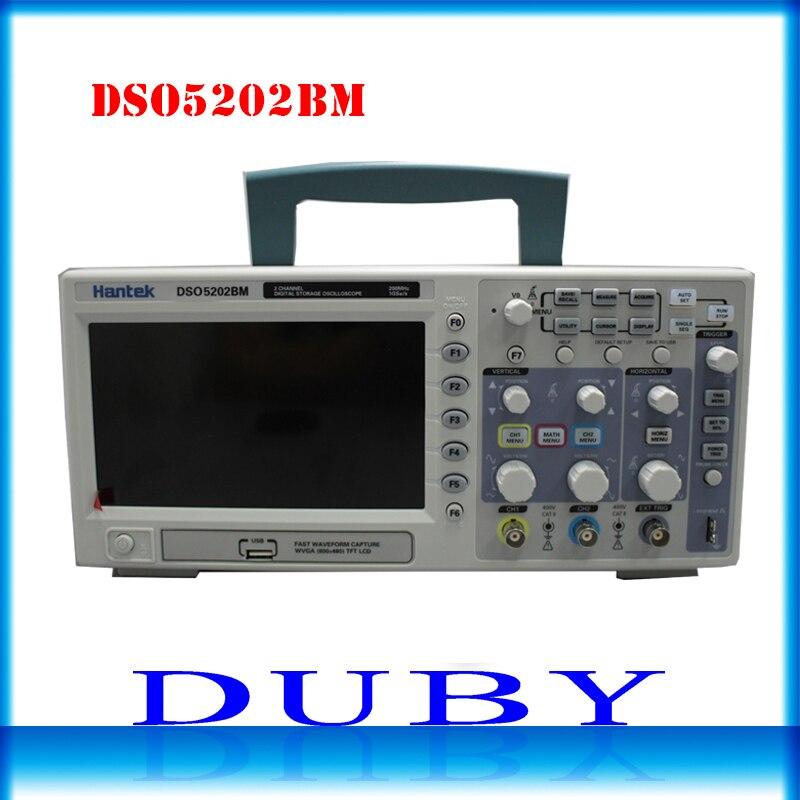 DSO5202BM Digital Display Lcd USB Bancada Osciloscópio Automotivo Osciloscopio Hantek 200 mhz Canais 2 1GSa/s 2 m Recorde comprimento
