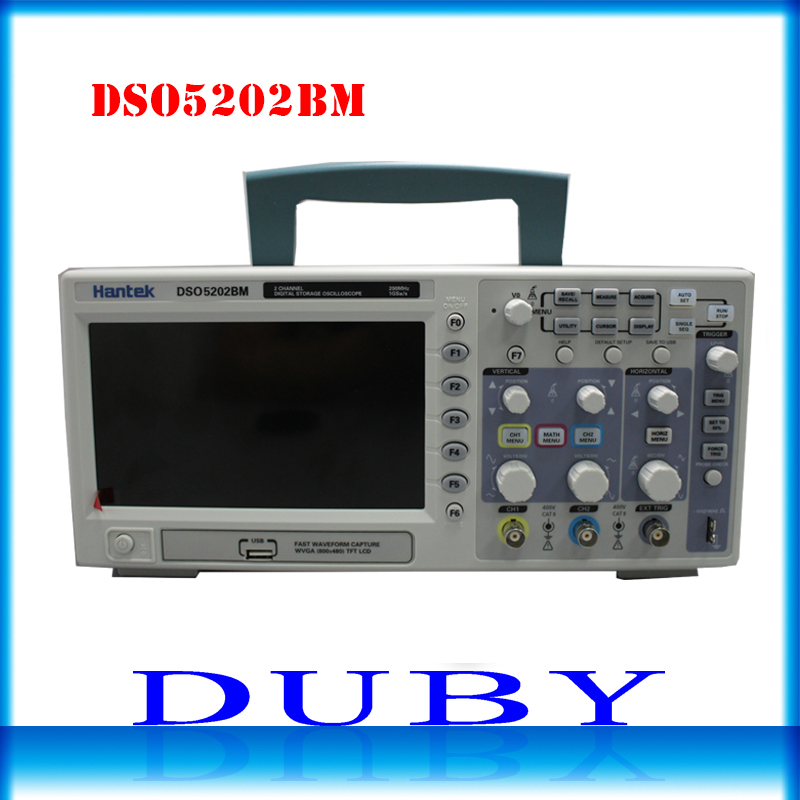 Hantek DSO5202BM Digital Automotive Oscilloscope USB Lcd Display Benchtop Osciloscopio 200MHz 2 Channels 1GSa/s 2M Record Length hantek dso5202p digital oscilloscope 200mhz bandwidth 2 channels pc usb lcd portable osciloscopio portatil electrical tools