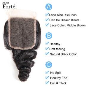 Image 5 - Remy Forte Lose Welle Bundles Mit Verschluss 10 30 Inch Haar Remy Brasilianische Haarwebart Bundles 3 /4 welle Bundles Mit Verschluss Schnelle
