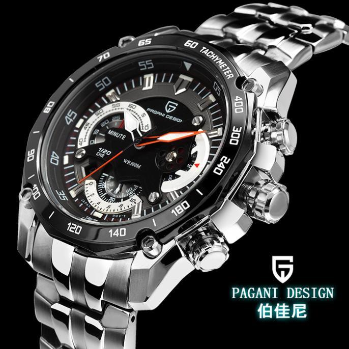 Pagani Design Luxury Stainless Steel Wrist Watch Fashion Clock ...
