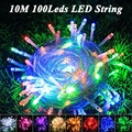 Holiday lighting Christmas garland 10M 100leds AC110V/220V luces Fairy String Garland 10m Outdoor led Christmas lights