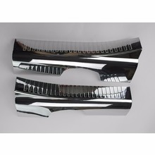Chrome Inner Front Door Sill Scuff Plate Cover Trims For Jeep Compass 2011 2012 2013 2014 2015 2016 [QPA343]
