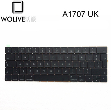 Wolive For MacBook Pro Retina 15″ A1707 2016 2017 MPTR2LL/A MPTT2LL/A UK Keyboard