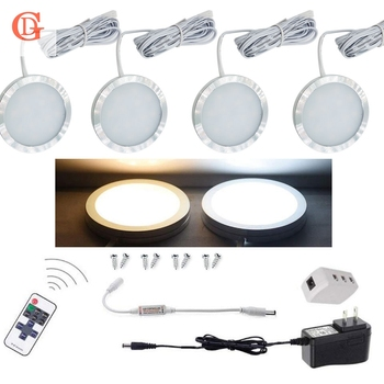 4pcs sets of Dimmable 12V DC 2.5W  LED Under Cabinet Lighting Puck Light  for Kitchen,Counter LED Cabinet light