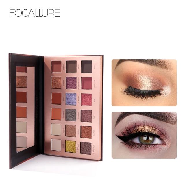 FOCALLURE 18 Color Eye shadow Palette  Shimmer Matte Beauty Makeup Set palette de maquillage Smoky Eyeshadow