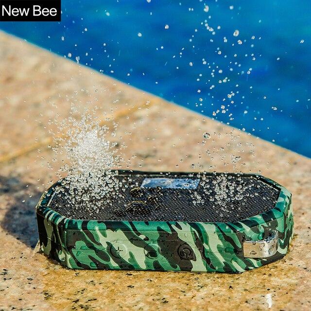 Новый Би Водонепроницаемый открытый Беспроводной Bluetooth Динамик мини сабвуфер душ Портативный динамики Hands-Free микрофоном для телефона компьютерной