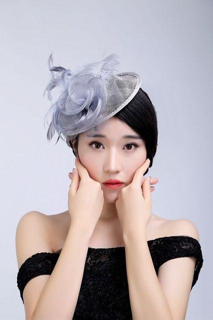 New Bride Hats Women Chic Fascinator Hat Cocktail Wedding Party Headpiece Net Bridal Hair Accessories