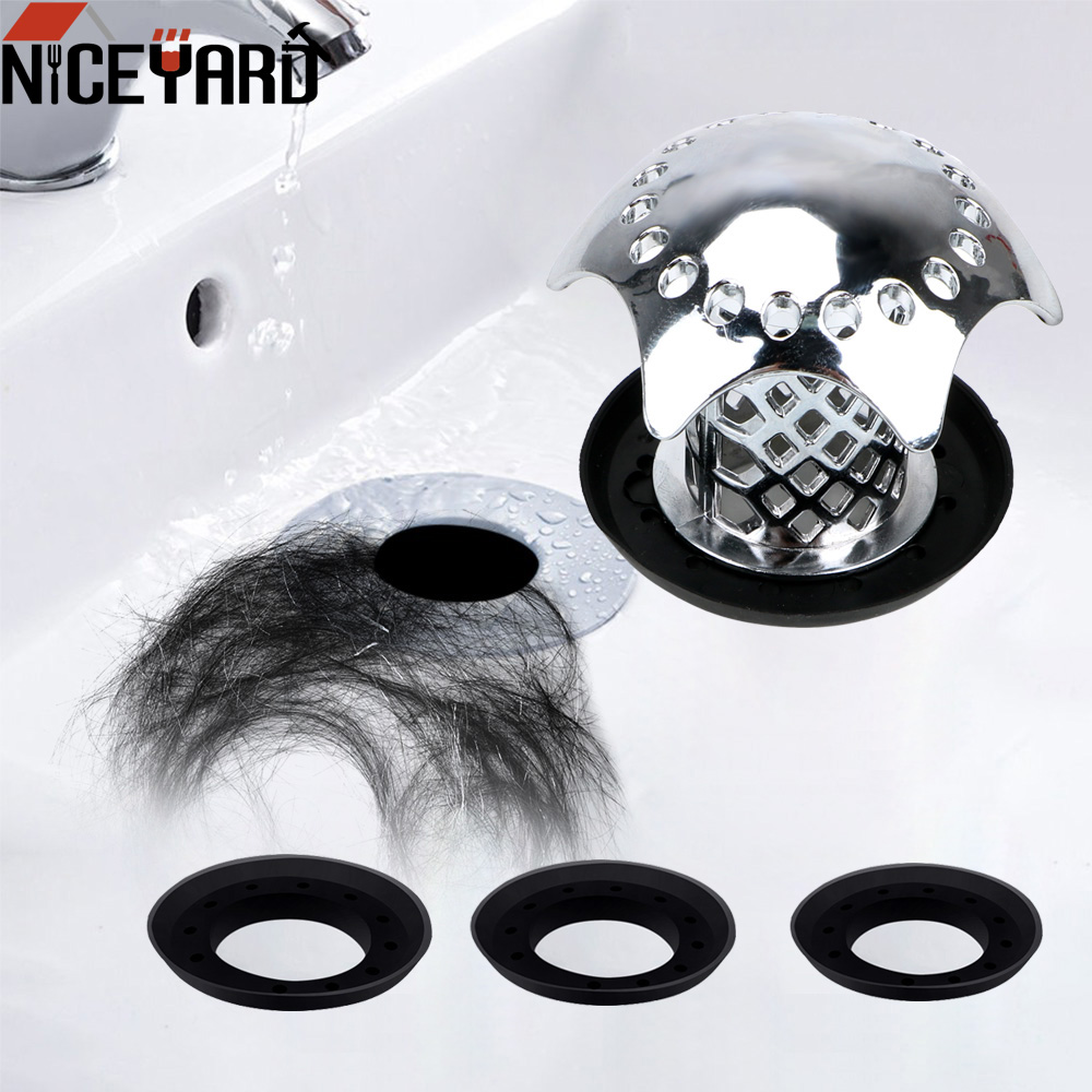 Sink Filter Prevents Hair From Clogging Bath Plug Gadgets Shower Sink Drain Cover Shower Drain Hair Catcher Bathroom Accessories