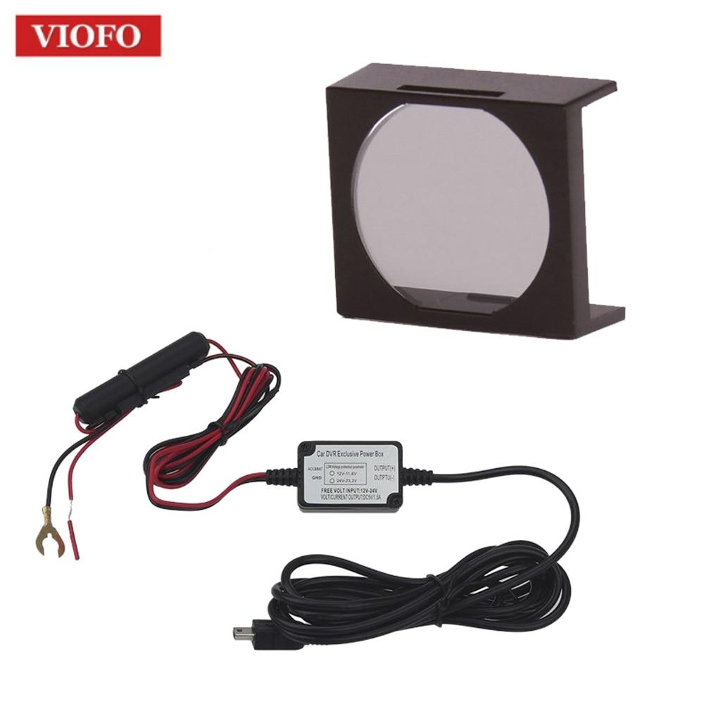 Original VIOFO CPL lente de filtro + Original 12 V a 5 V hardwire cable kit para VIOFO A118C2/A119 /A119S Dash cam Cámara DVR