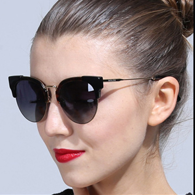 vintage Cat eye Brand Designer Sunglasses Women oversized round lens Sun  Glasses lady Eyewears Female oculos gafas de sol mujer-in Sunglasses from  Apparel ... 322b0c6f67