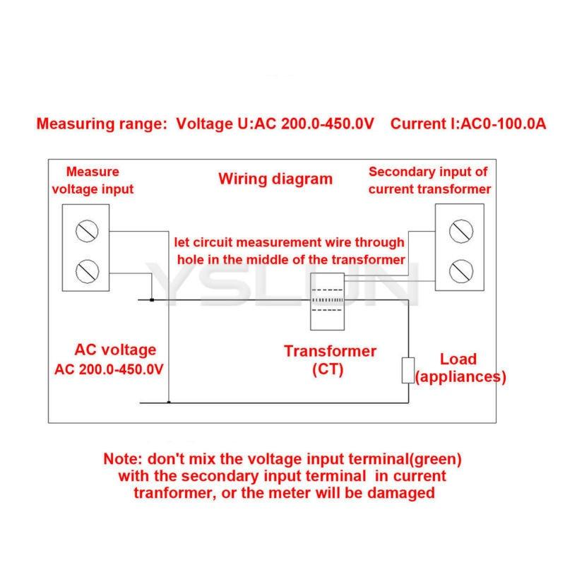 ac 200 450v 100a dual display digital voltmeter ammeter 3 phase 380v rh aliexpress com
