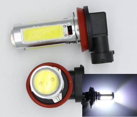 2Pcs H11 LED 9005 9006 HB4 HB3 1157 3157 5pcs COB Auto Car Fog Lamps Automobiles Lamp 12V Motorcycle Headlight H7