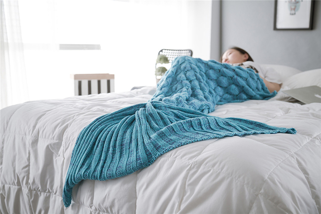 Knitted Mermaid Tail Blanket Adult/Child/Baby