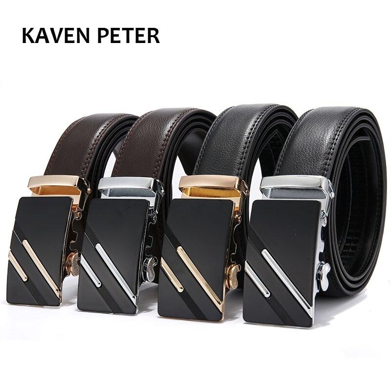 2017 hombres de moda 100% Cuero auténtico cinturones para hombres de alta  calidad metal hebilla automática Correa masculina Vaqueros cowboy envío  gratis en ... 7bab67e8f54d