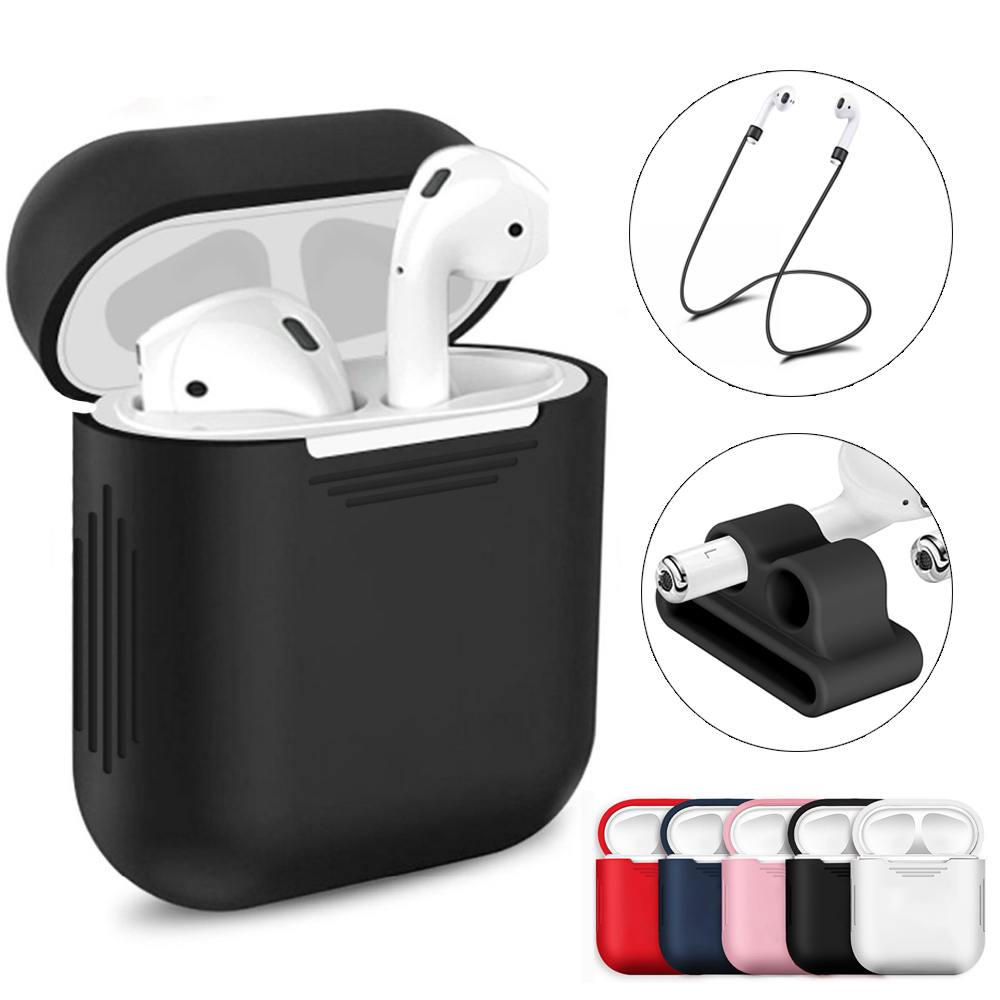 Soft Silicone Case For Apple Airpods <font><b>Air</b></font> <font><b>Pods</b></font> Earphone Protective Cover <font><b>i9</b></font> i9s i10 pro i10s i11 i11s i13 i19 <font><b>TWS</b></font> case kits image