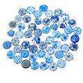 MJARTORIA 20PCs Random Mixed Dome Round 14mm Glass Cabochon DIY Jewelry Findings Flatback Scrapbook Embellishment Cabochons