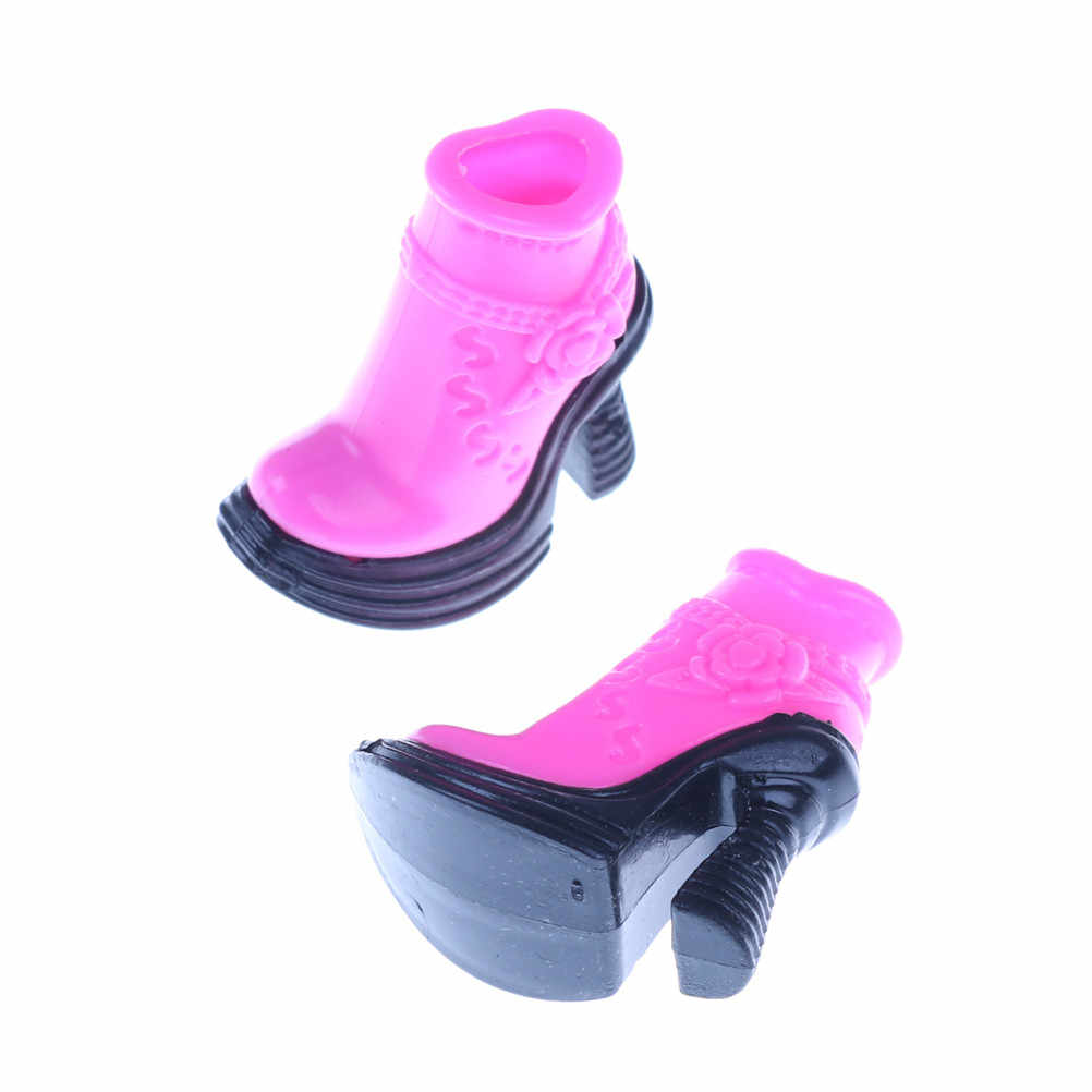 ffbbc648ff7d Fashion Pink Boots Style High Heels Cute Shoes Clothes For Barbie Doll  Accessories Toys