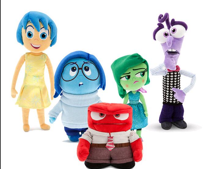 22-40cm hot sale Pixar Movie Inside Out plush toy cartoon Sadness Fear Joy Disgust stuffed doll Christmas Gifts for children