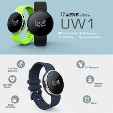 UW1 Bluetooth 4.0 Sport Smart Watch Bracelet Heart Rate Calls SMS Remind IP67 Pedometer for Android IOS Phone Watches PK Q18 U8