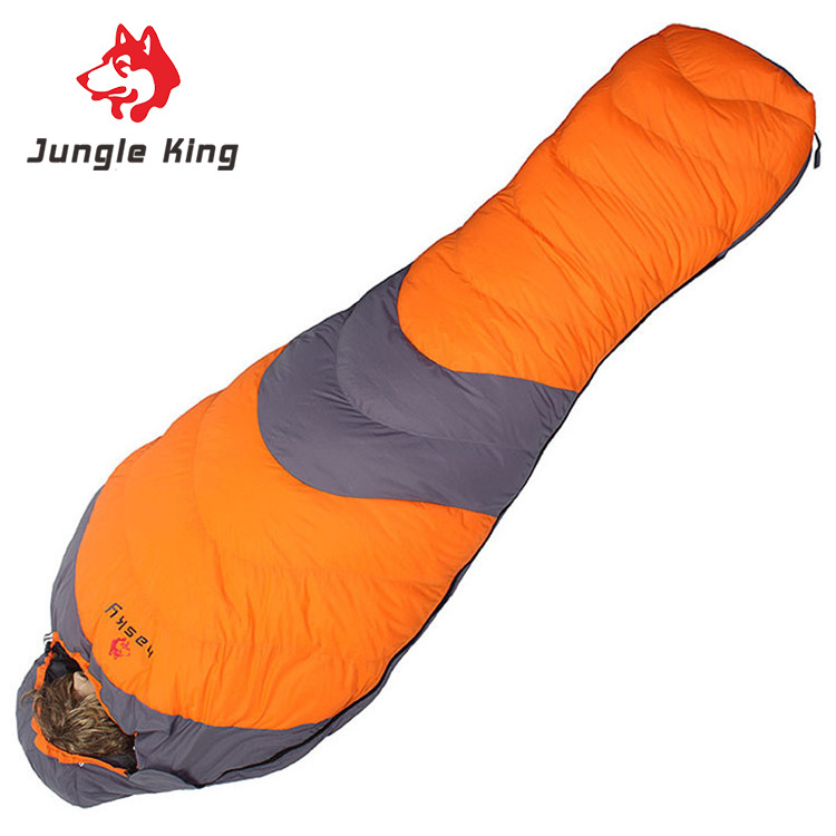 Jungle King Duck down for cold winter sleeping bags outdoor mountaineering trails camping sleeping bags nylon mummies adults -20