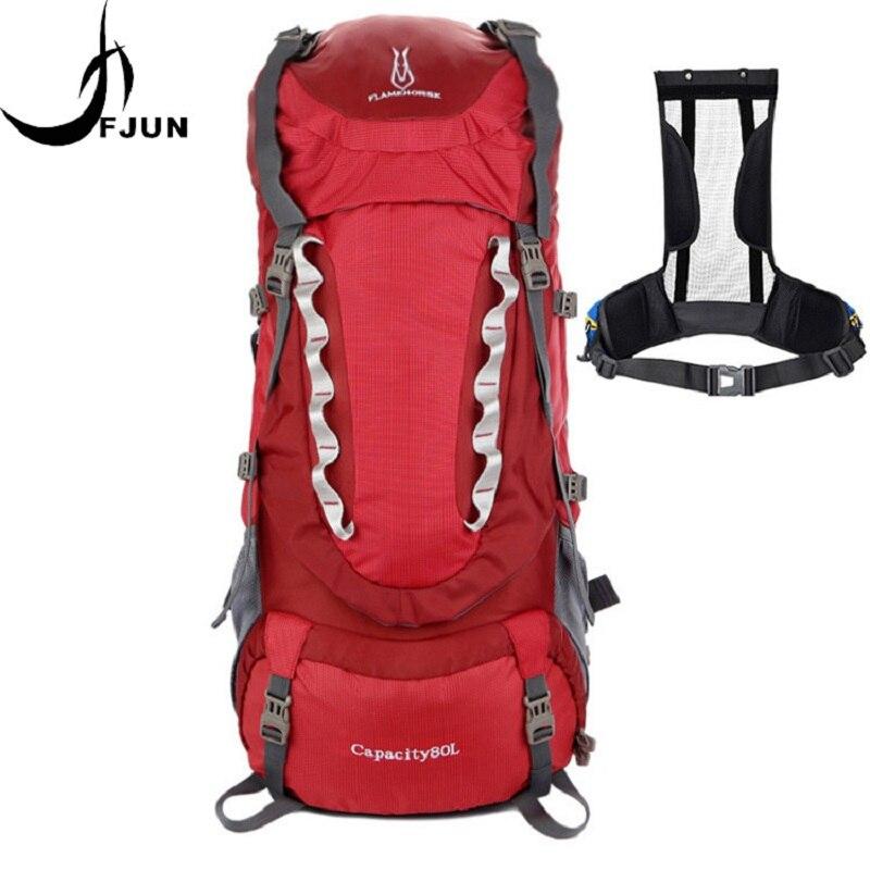 80L grande capacité alpinisme chasse voyage escalade Nylon étanche sac à dos Molle sacs à dos avec sac à cadre interne BD39