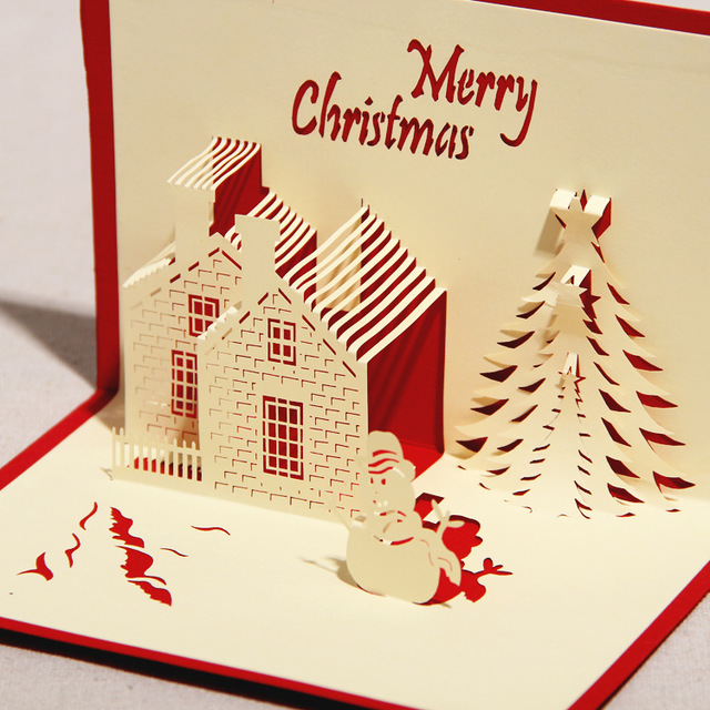 3d greeting card castle in winter handmade paper craft 3d pop up 3d greeting card castle in winter handmade paper craft 3d pop up m4hsunfo