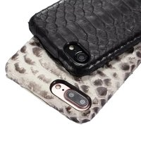 (1ピース)新しい高級本物のリアルレザーケースiphone用7 7プラスカバー3d pythonスネークスキンカラーゴールドケース携帯電話カバー